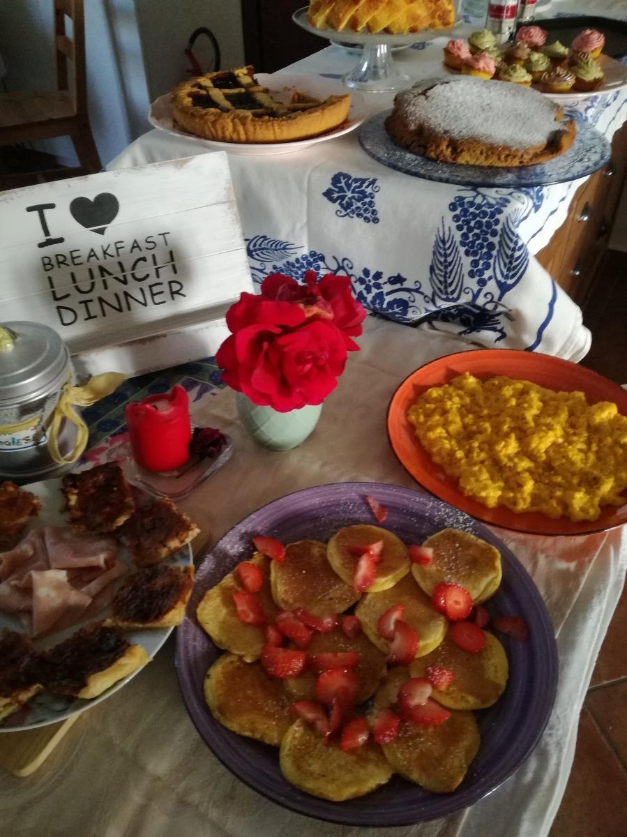 La colazione di LA FATTORIA DEL BOSCHETTO