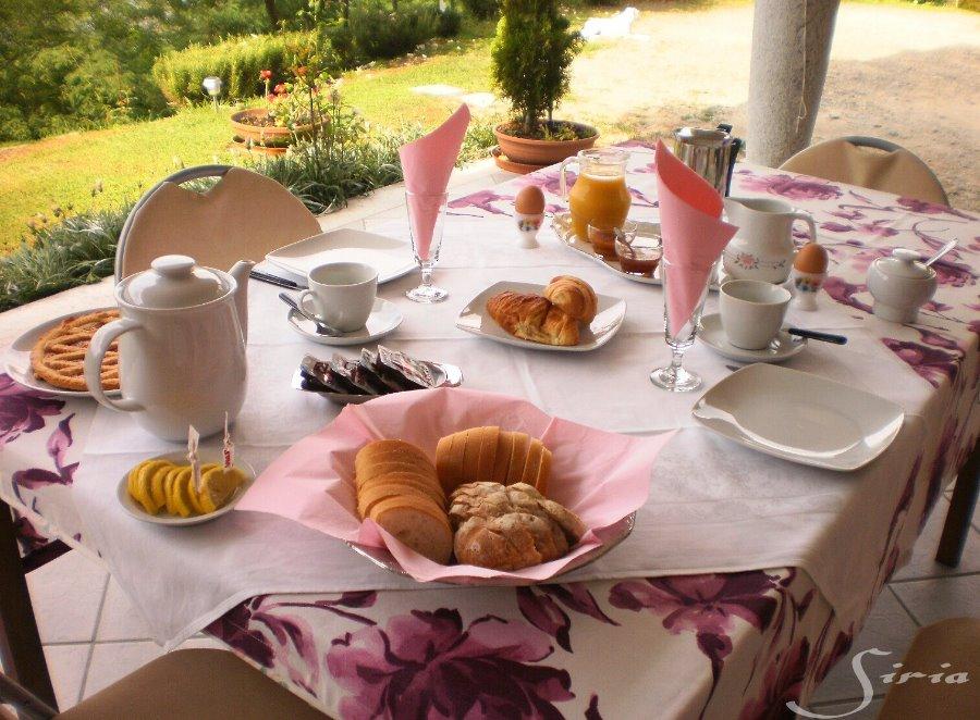 La colazione di B&B LA FLORIDA