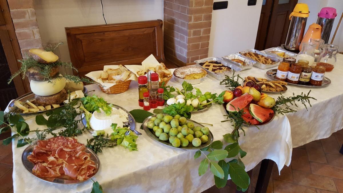 La colazione di AGRITURISMO SANT'APOLLINARE