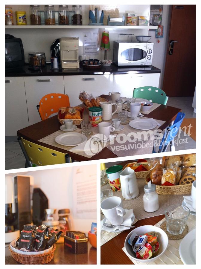 La colazione di ROOMS RENT VESUVIO B&B