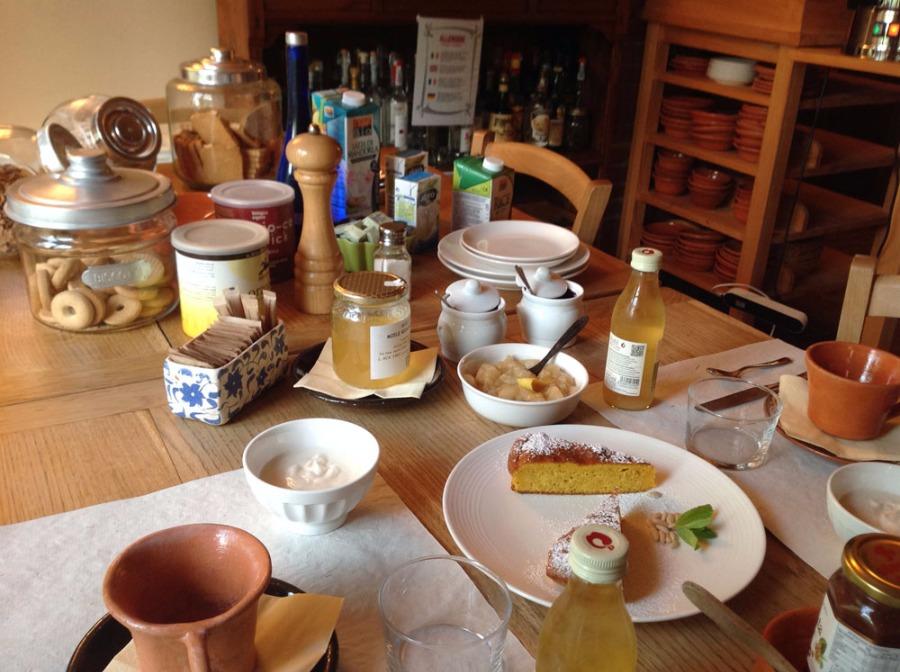 La colazione di IL TALUCCO B&B E RISTORANTE VEG