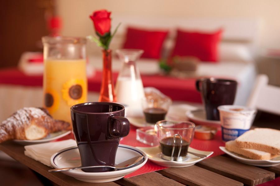 La colazione di B&B MY SUNRISE IN ROME