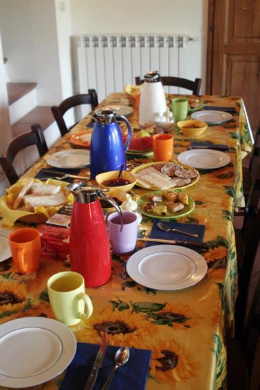 La colazione di PODERE LE SERRE