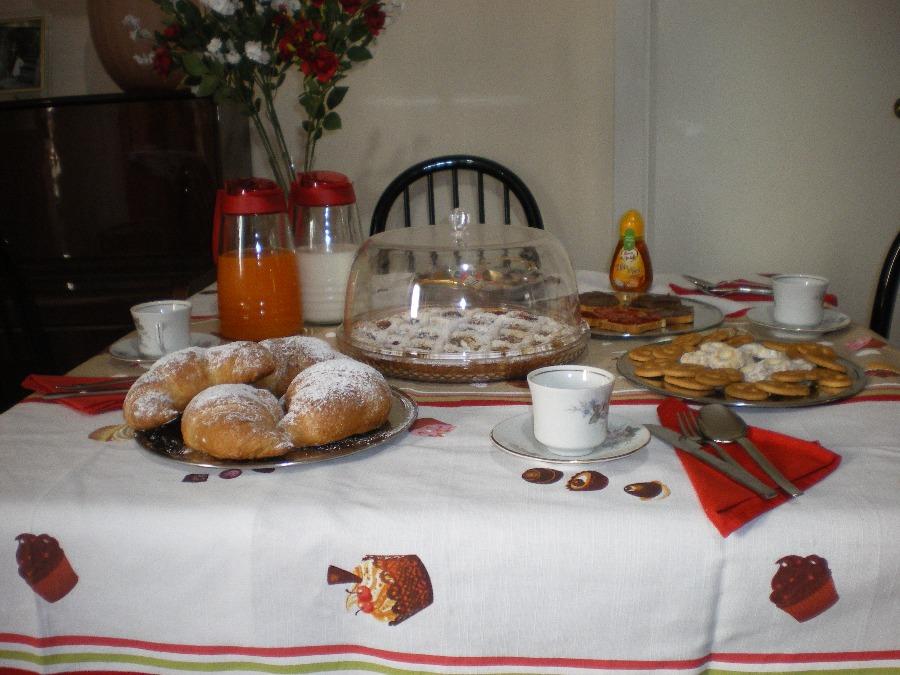 La colazione di B&B IL SOLE D'ARECHI