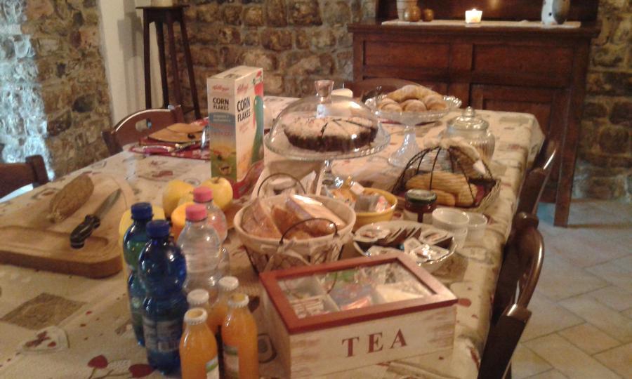 La colazione di B&B BORGO ANTICO