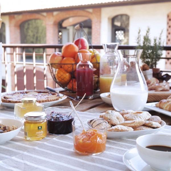 La colazione di LA CORTE E L'UVA