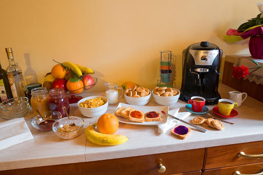 La colazione di B&B LA QUIETE