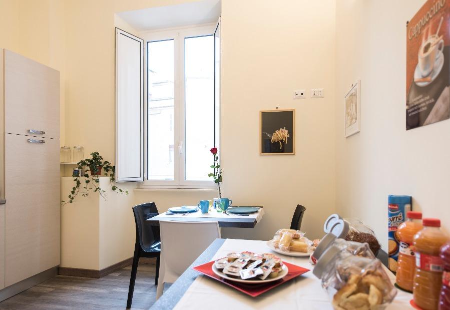 La colazione di B&B HOLIDAYS IN ROME