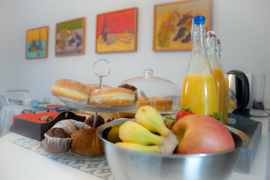 La colazione di ART GALLERY B&B