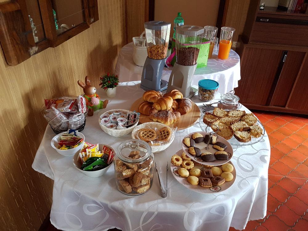 La colazione di B&B VILLA FIORELLA