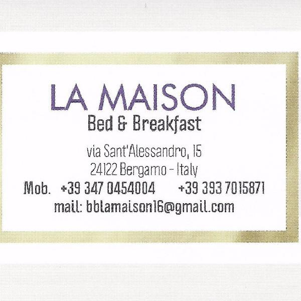 bed & breakfast la maison