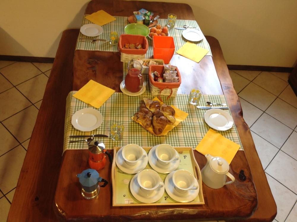 La colazione di B&B BOSCO TENSO