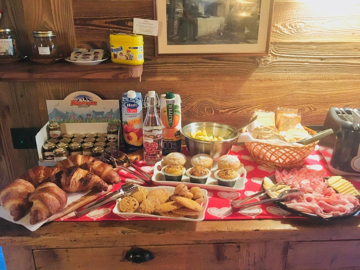 La colazione di B&B LO RAHCART DI BORET