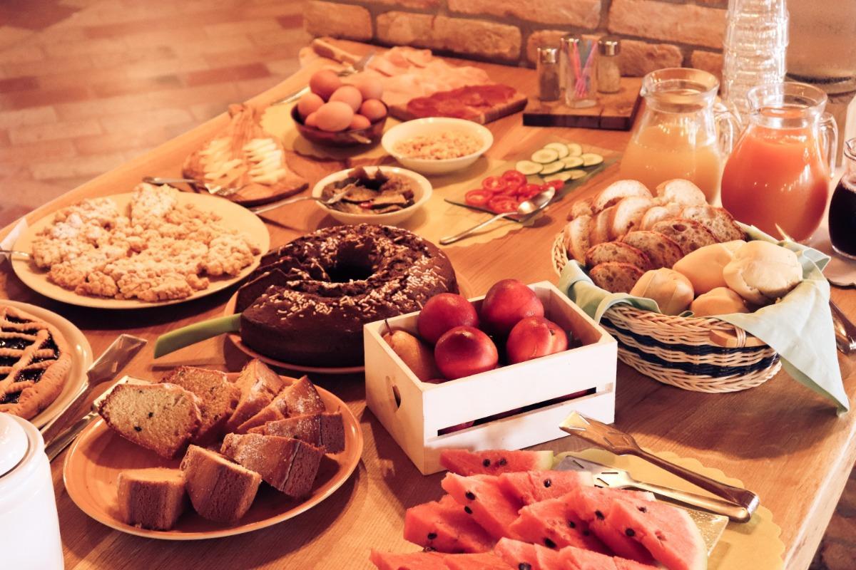La colazione di AGRITURISMO LE CIPRESSINE