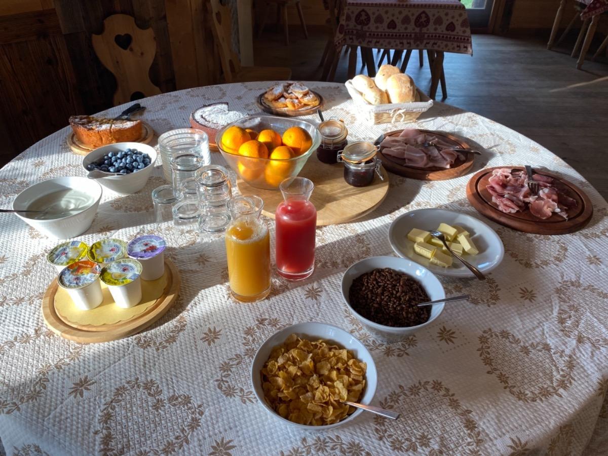 La colazione di AGRITURISMO COC NER