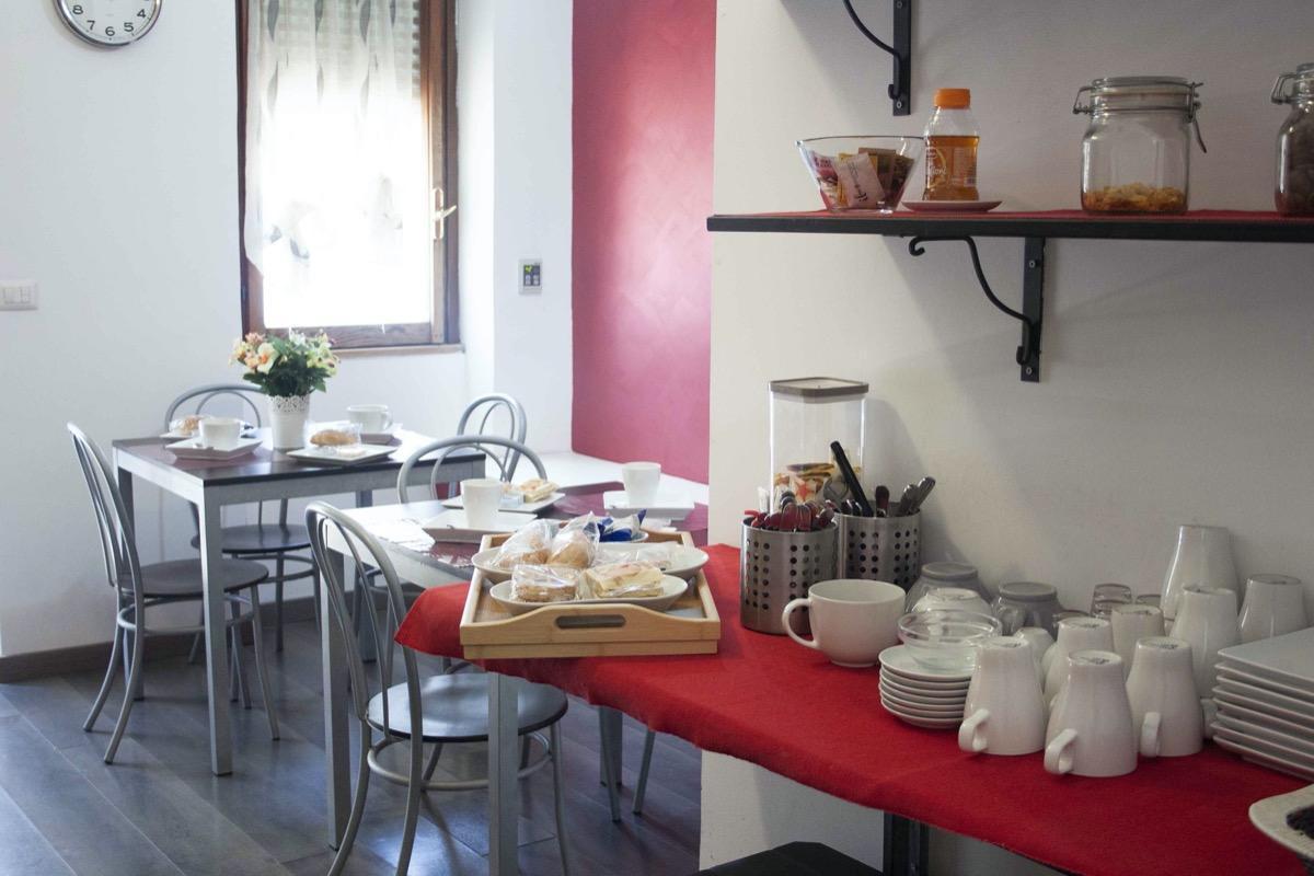 La colazione di BED ROOMS ROME