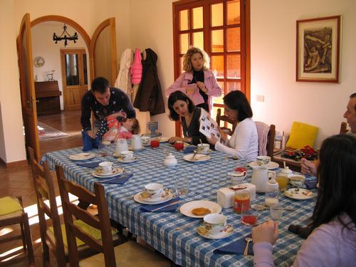 La colazione di CASA RASTIA B&B