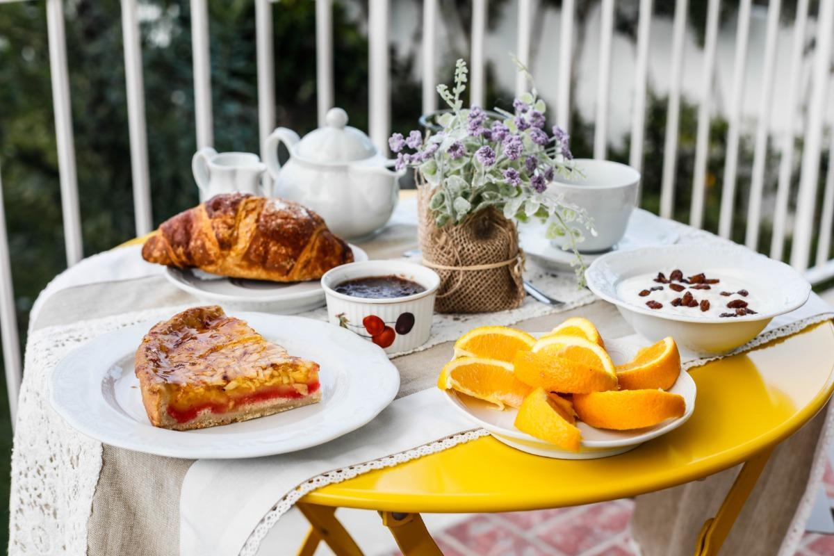 La colazione di LA FORESTERIA DI MAESTINA