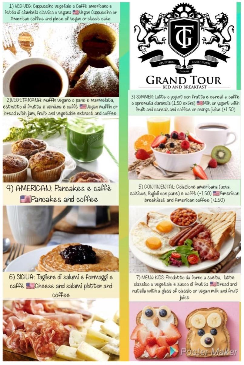 La colazione di B&B GRAND TOUR CATANIA