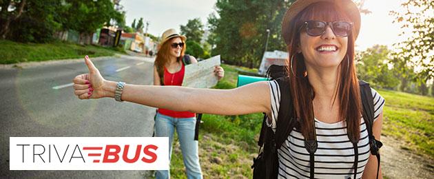 Alcuni itinerari da percorrere con Trivabus, il bus a partire da 0,99€
