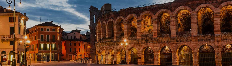 Verona - Piazza Bra e l'Arena