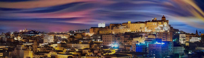 Cagliari - La città al tramonto