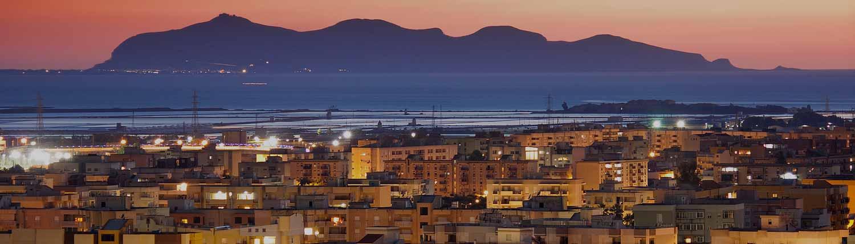 Favignana vista da Trapani