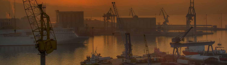 Panorama del Porto al tramonto - Ancona