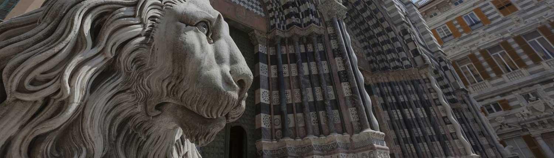 Genova - Particolare della Cattedrale di San Lorenzo